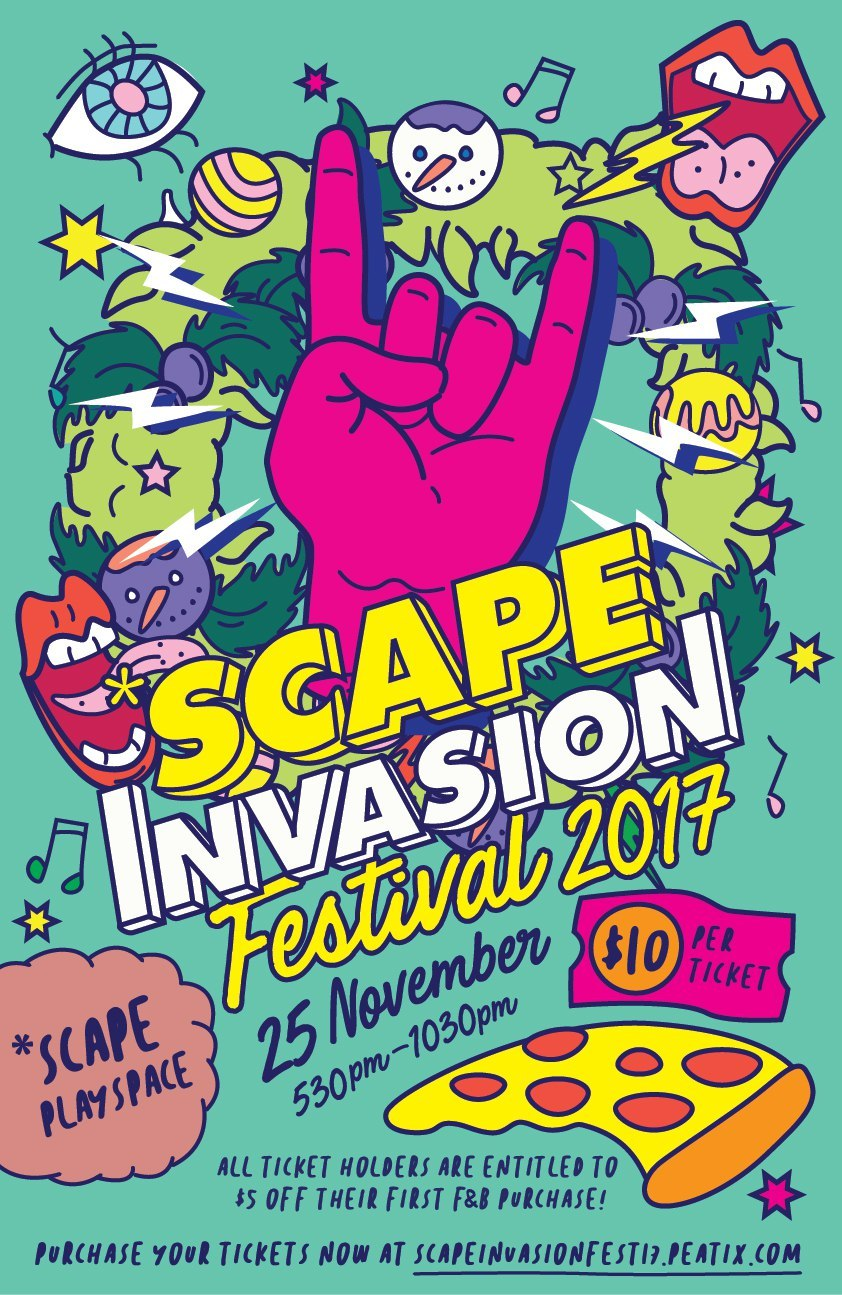 SCAPE Invasion Festival 2017 returns with The Sam Willows