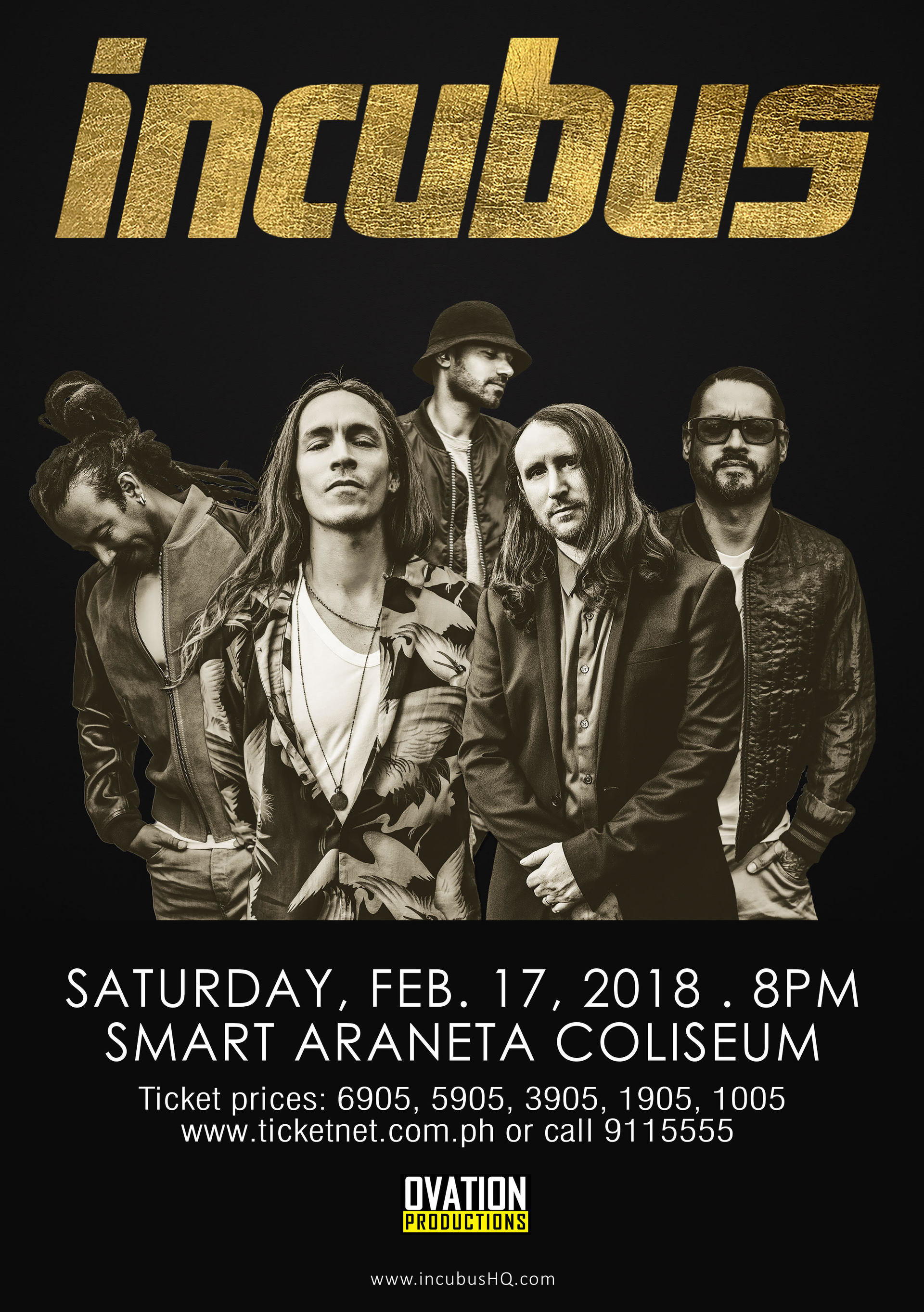 Incubus To Return To Manila In 2018 Editorial Bandwagon Live