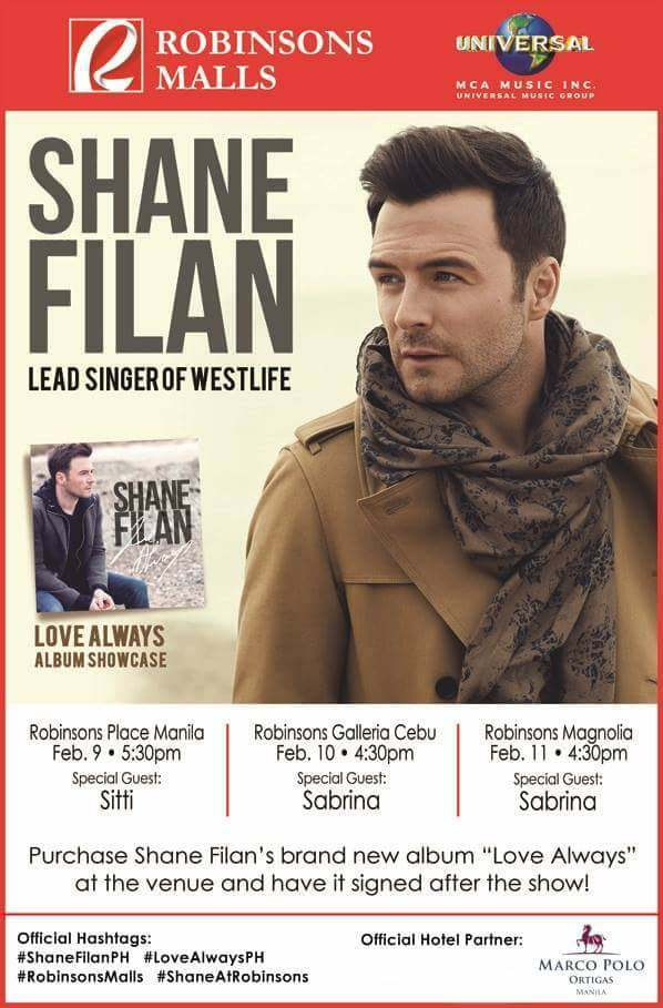 Westlife's Shane Filan to visit Manila and Cebu for a series of