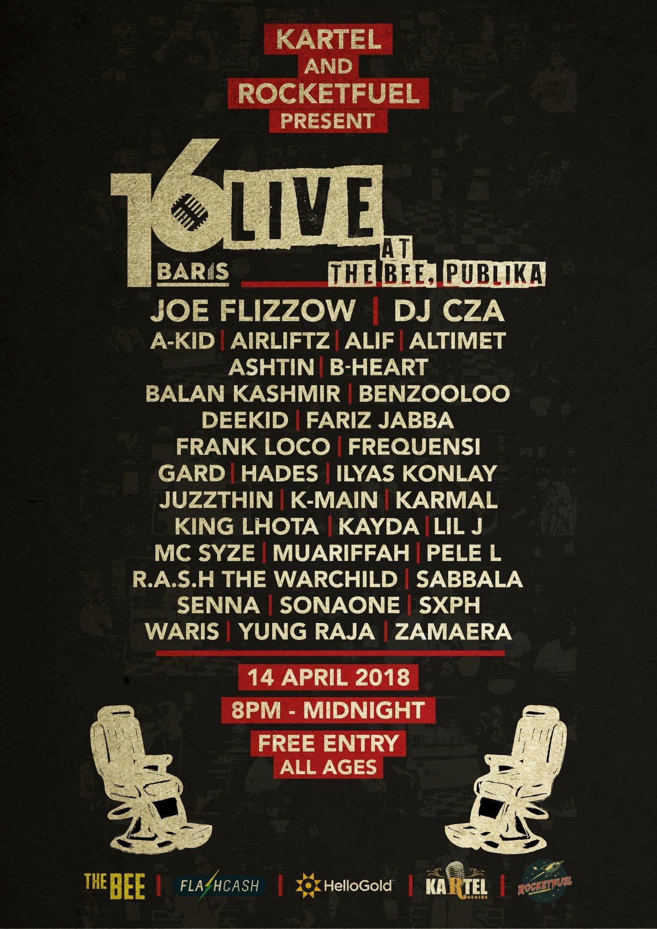 dc2b215f2ac Joe Flizzow and 16 Baris do it for Southeast Asian rap culture