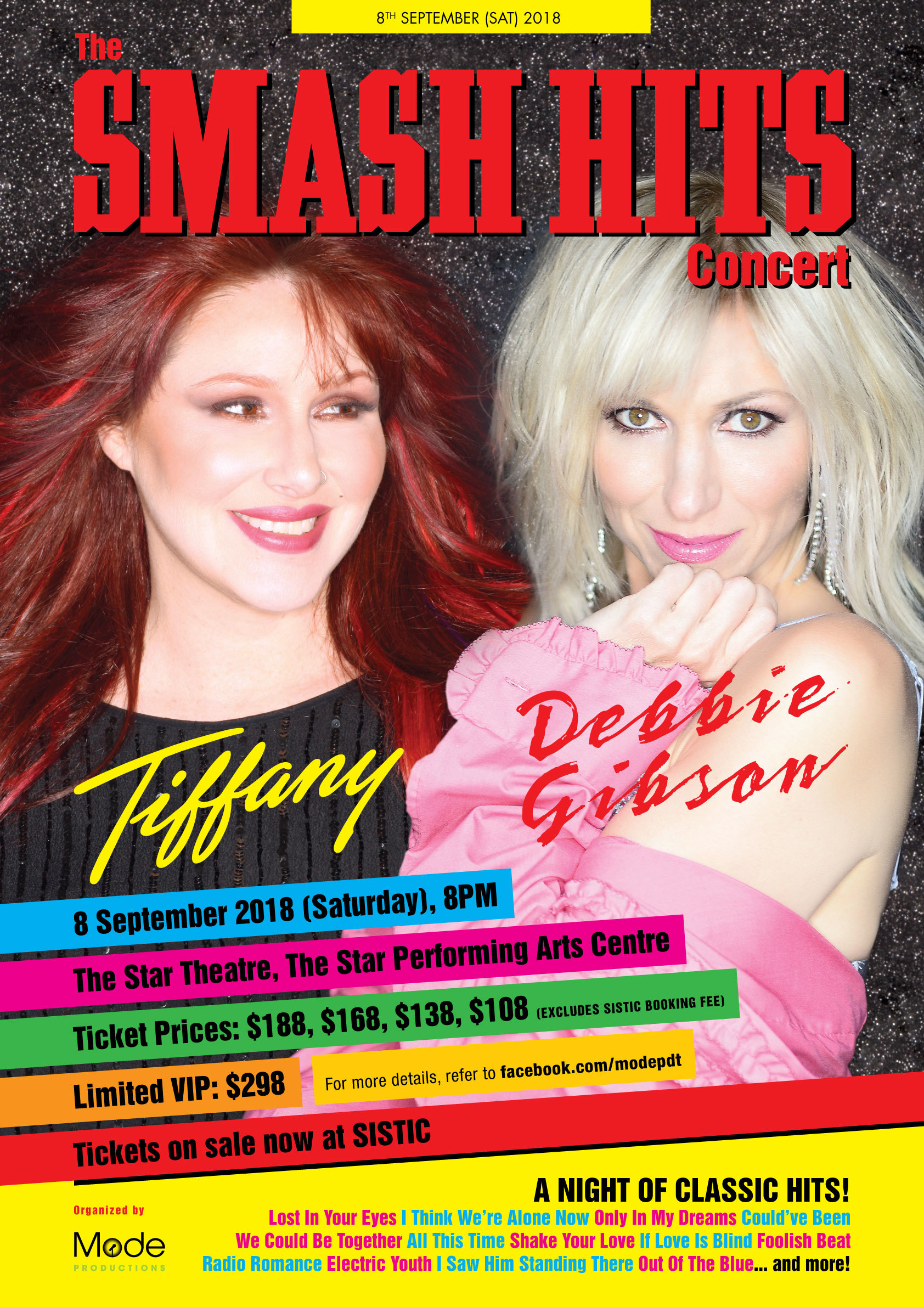 Tiffany and Debbie Gibson to perform together in Singapore this