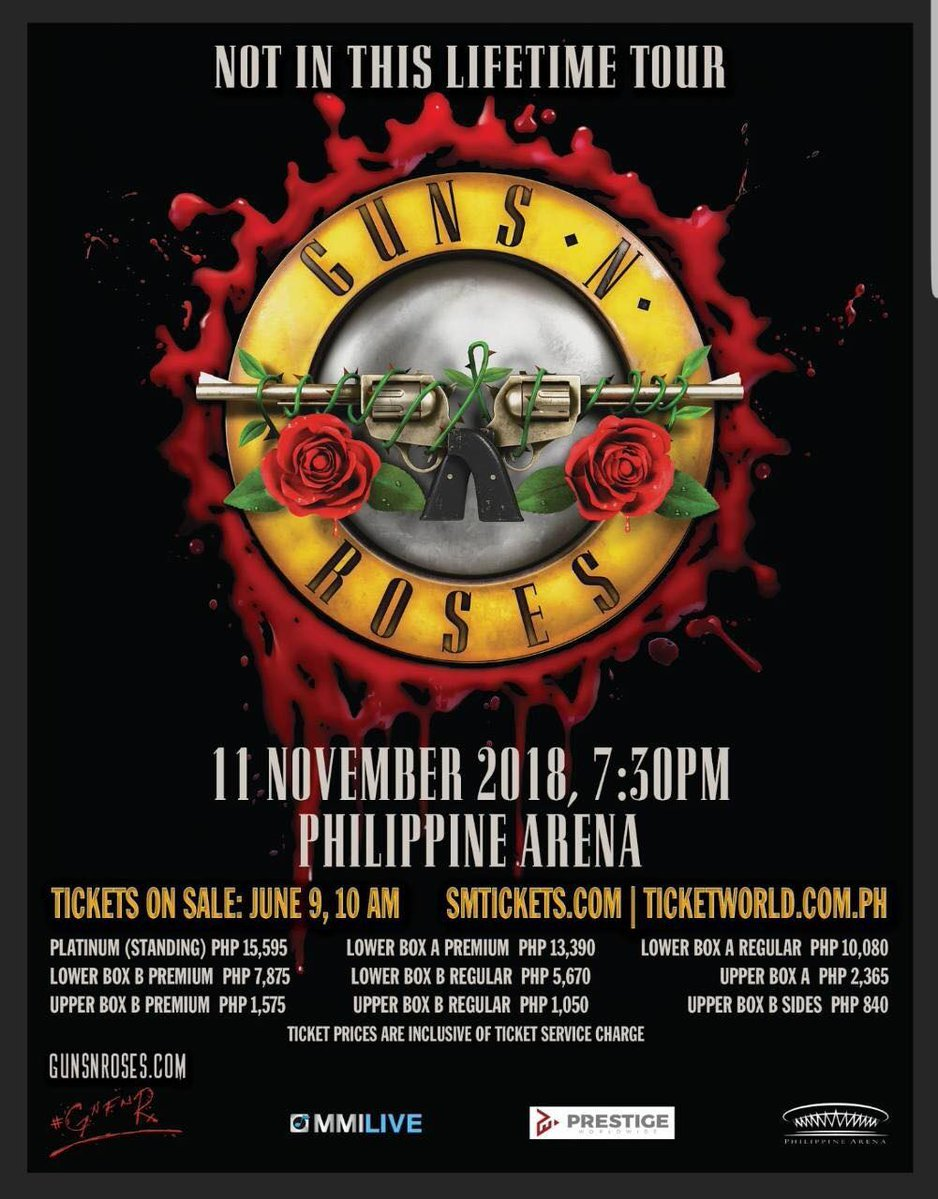 Heres Your Free Ride To Guns N Roses Philippine Arena Concert