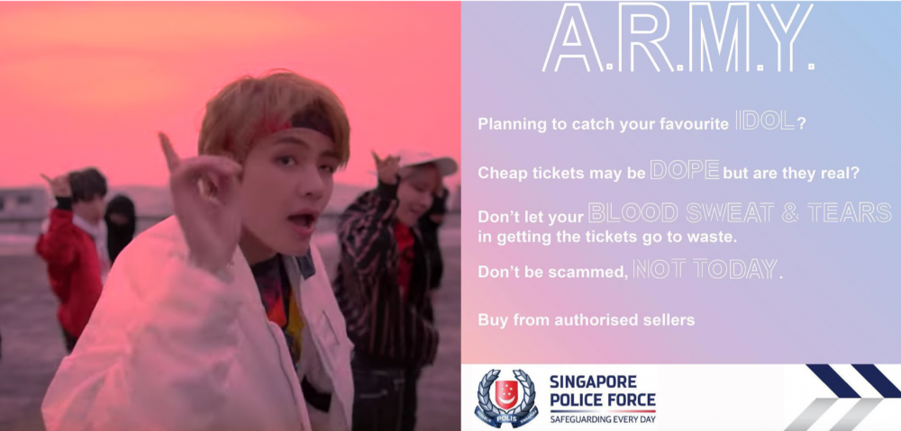 Scalpers reselling tickets to BTS' sold out Singapore show for