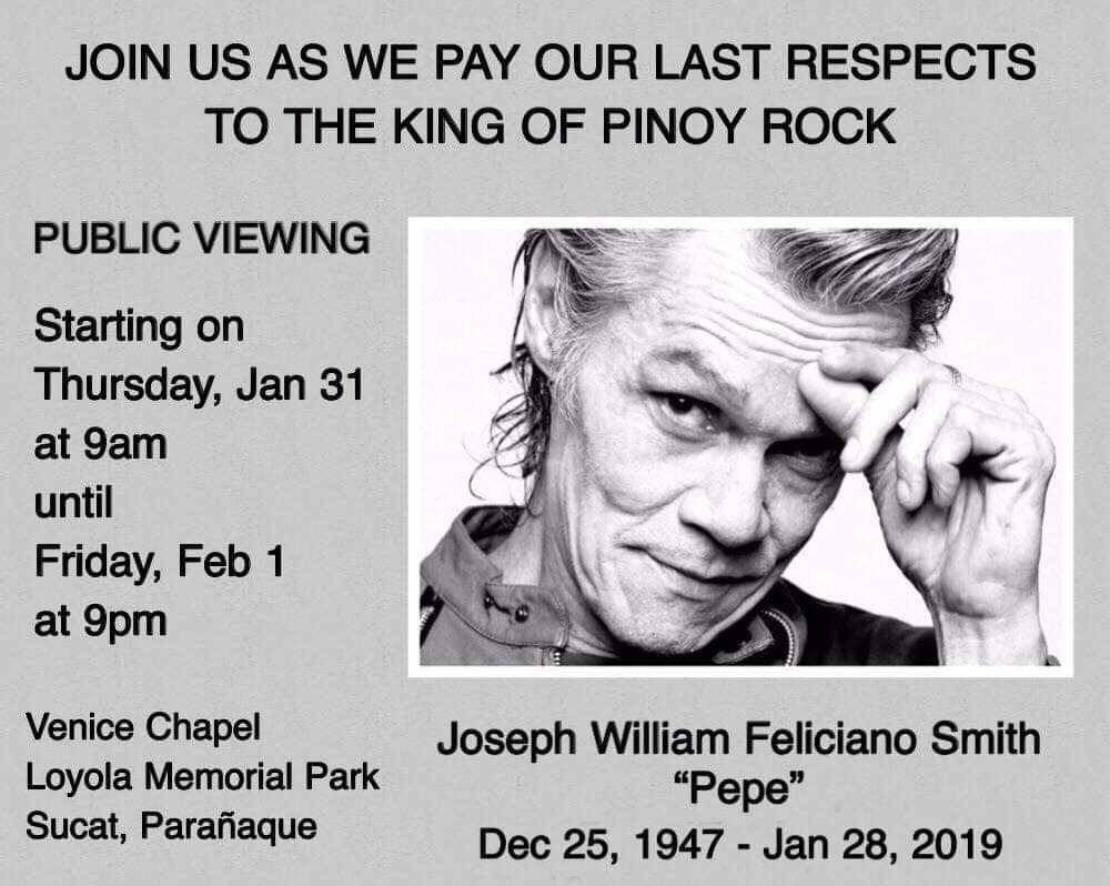 Filipino rock icon Pepe Smith dies at 71   Bandwagon   Music