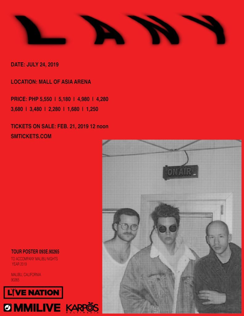LANY are returning to Manila in 2019 | Editorial | Bandwagon - Live