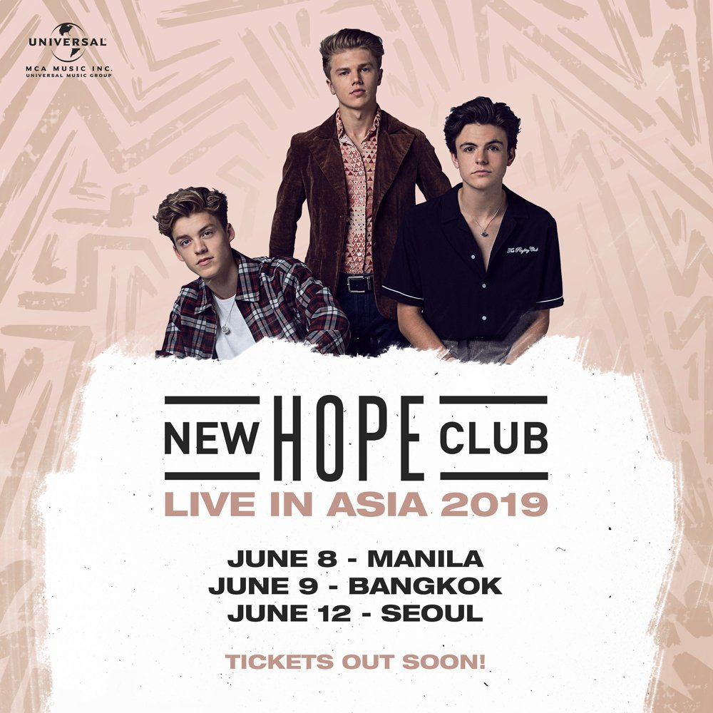 New Hope Club announce Asian tour dates - Manila, Bangkok
