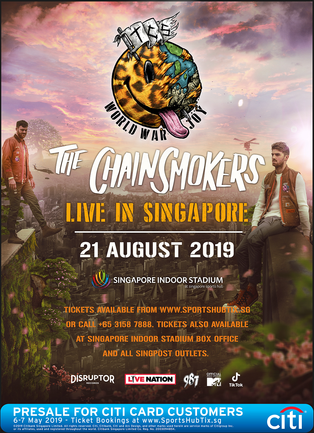 BREAKING: The Chainsmokers to perform in Singapore this August |
