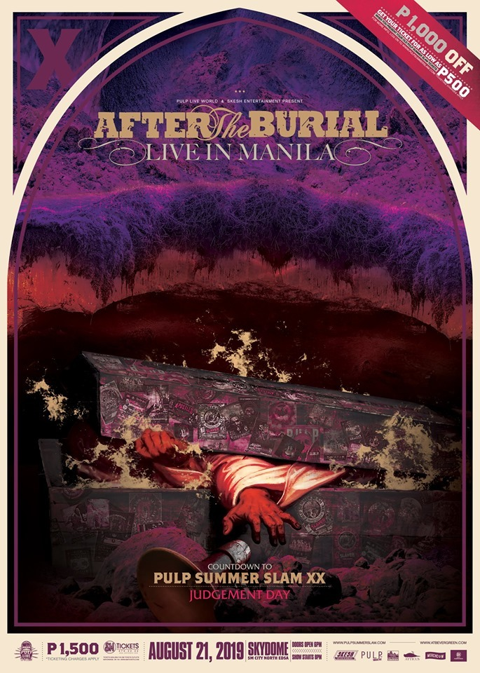 Pulp Summer Slam 2020.After The Burial To Perform In Manila To Begin Pulp Summer