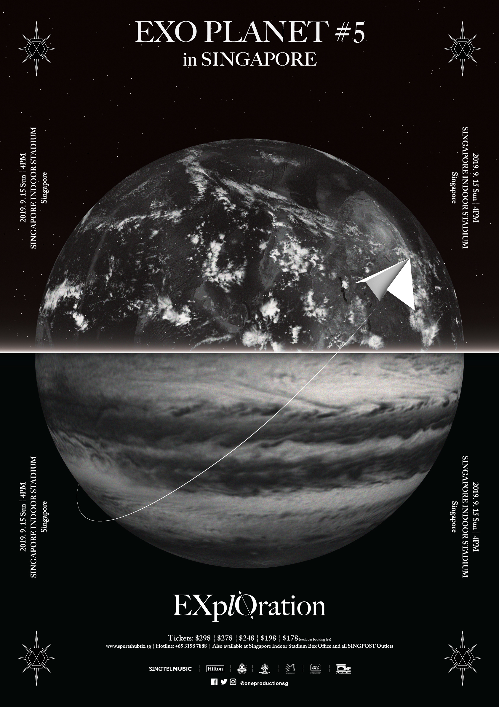 Poster EXO PLANET #5 – EXplOration – in Singapore
