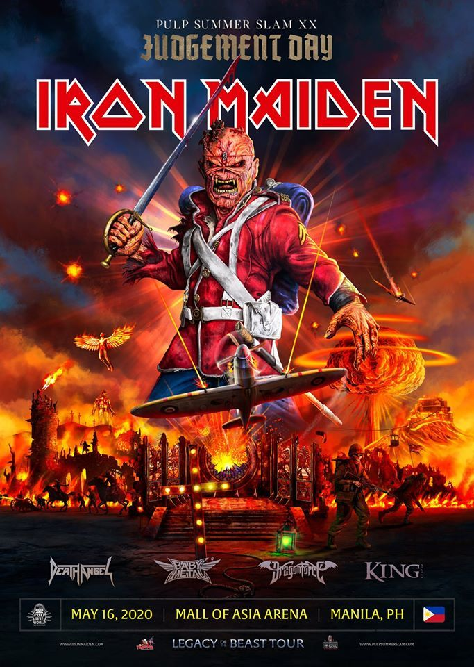 Pulp Summer Slam 2020.Iron Maiden To Headline Pulp Summer Slam Xx Judgement Day