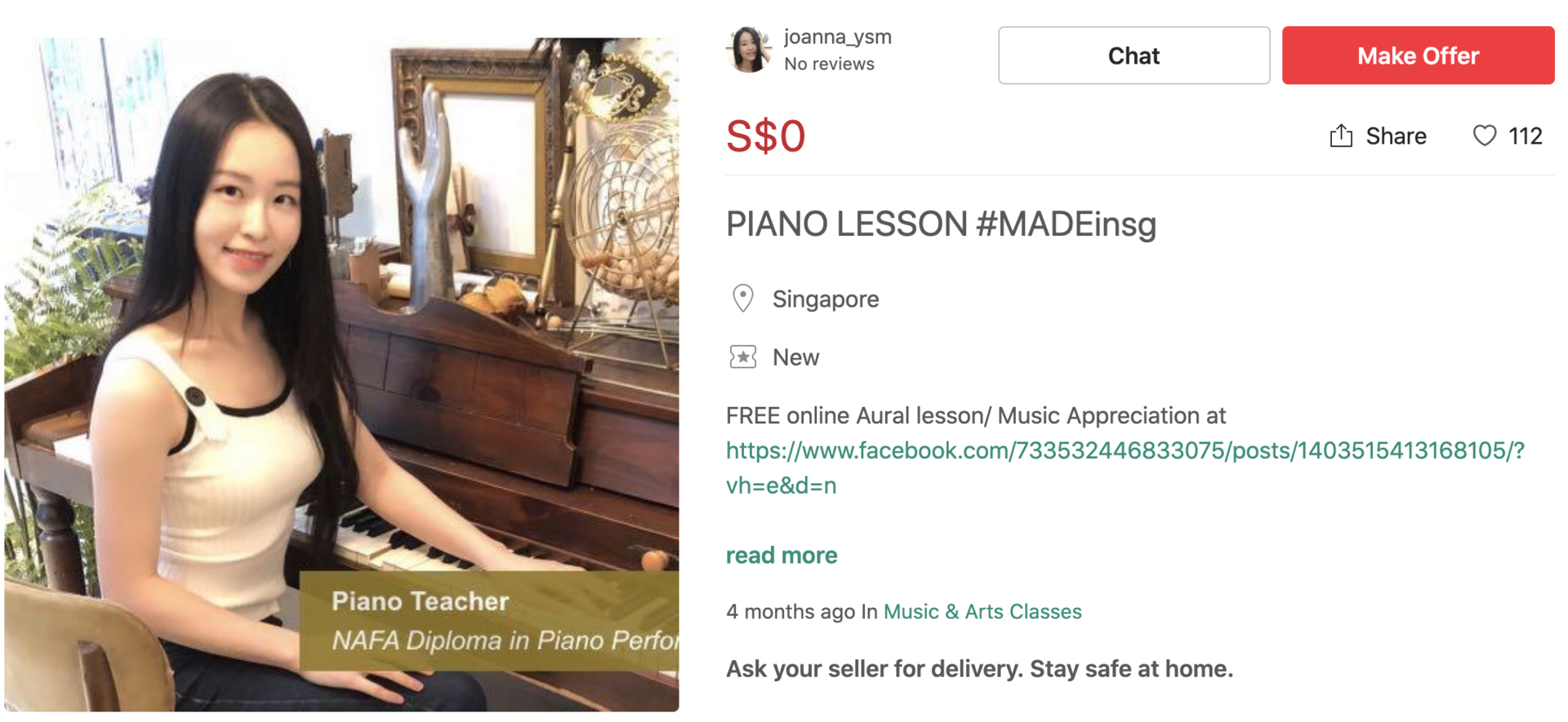 MADE in SG Carousell Piano Lessons
