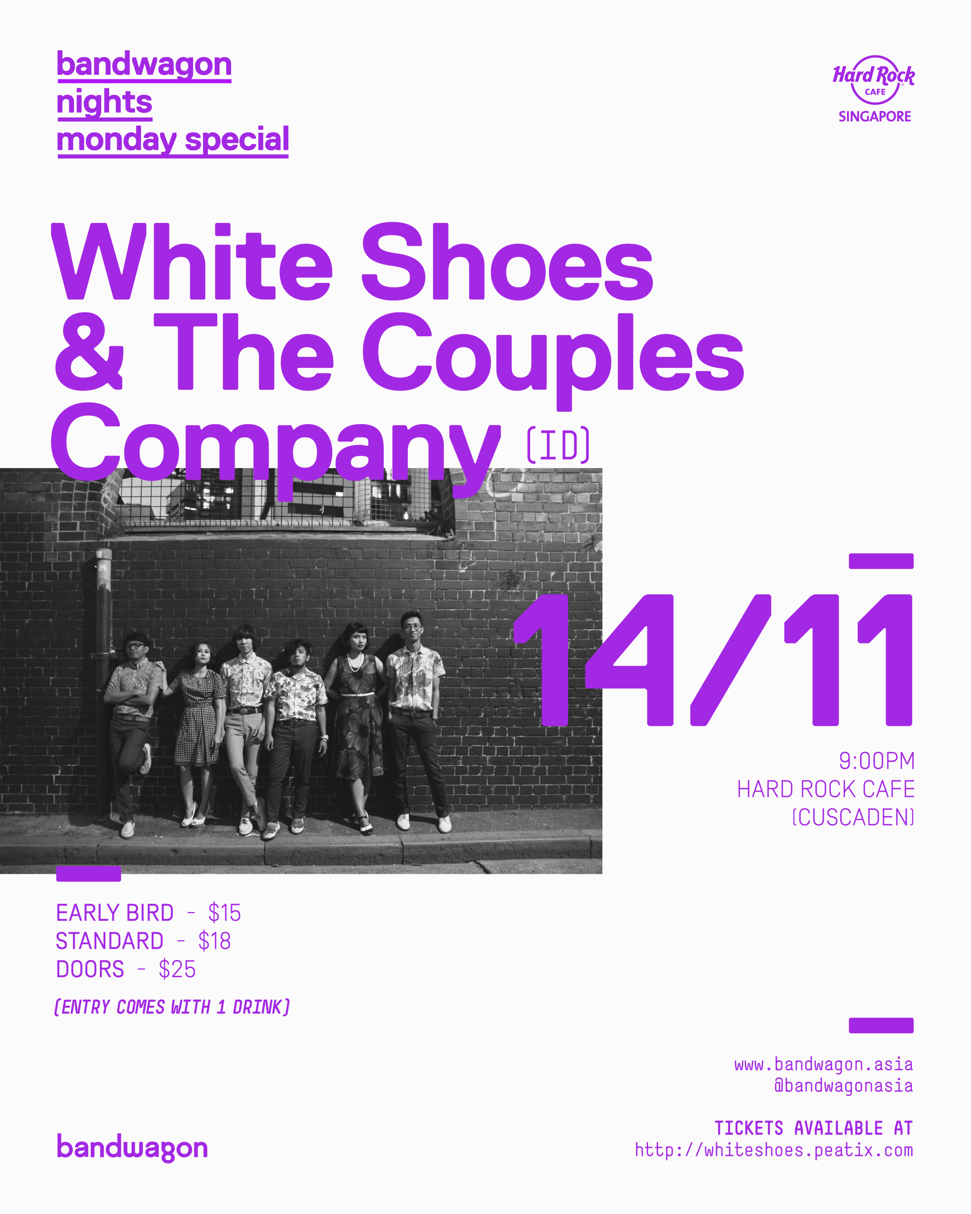 White Shoes & The Couples Company, Bandwagon Nights Monday Special