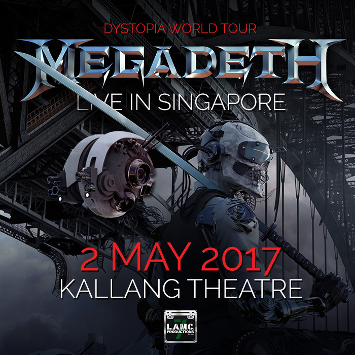 thrash metal pioneers megadeth brings their dystopia world tour to. Black Bedroom Furniture Sets. Home Design Ideas