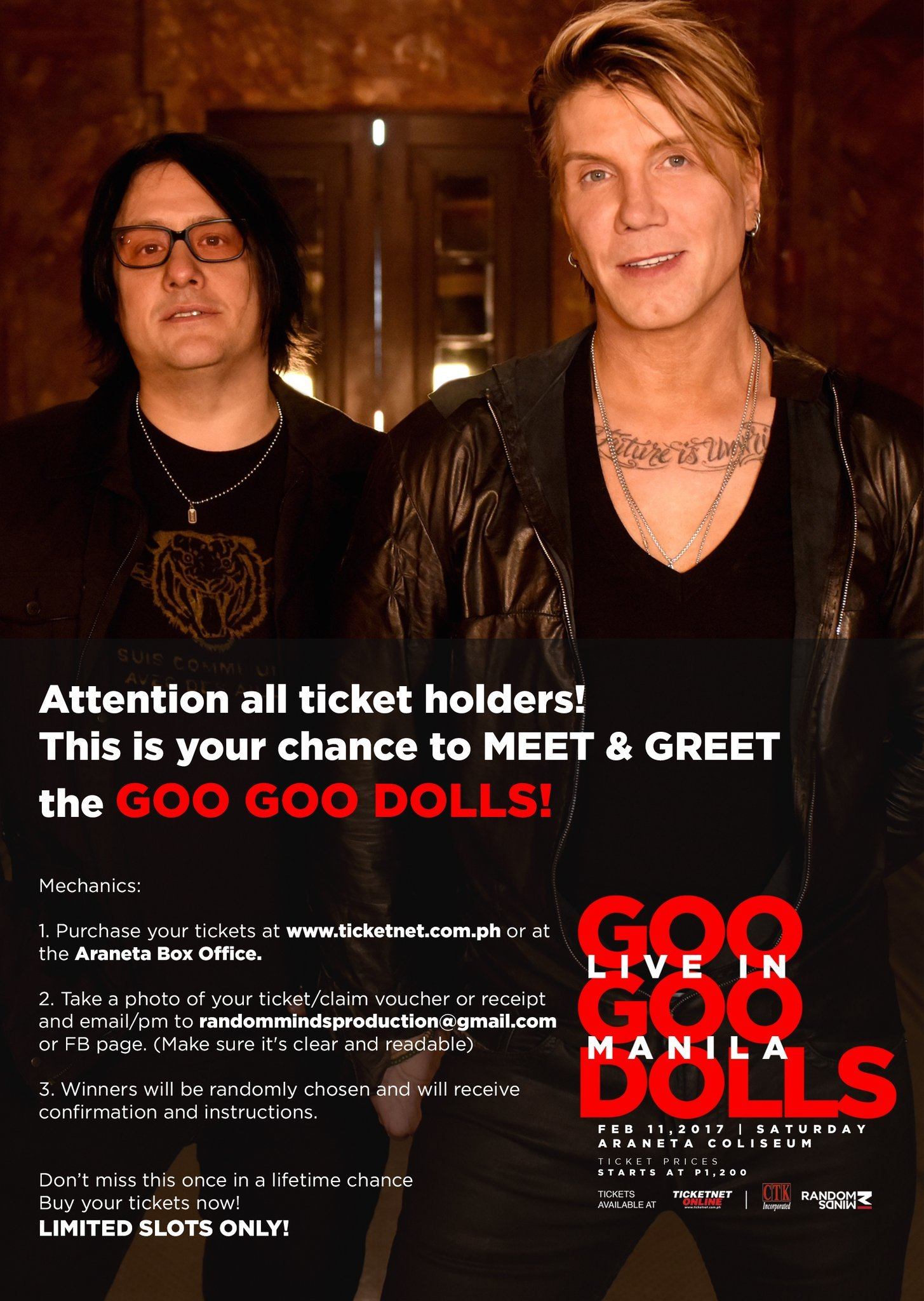 Contest Get A Chance To Meet And Greet The Goo Goo Dolls
