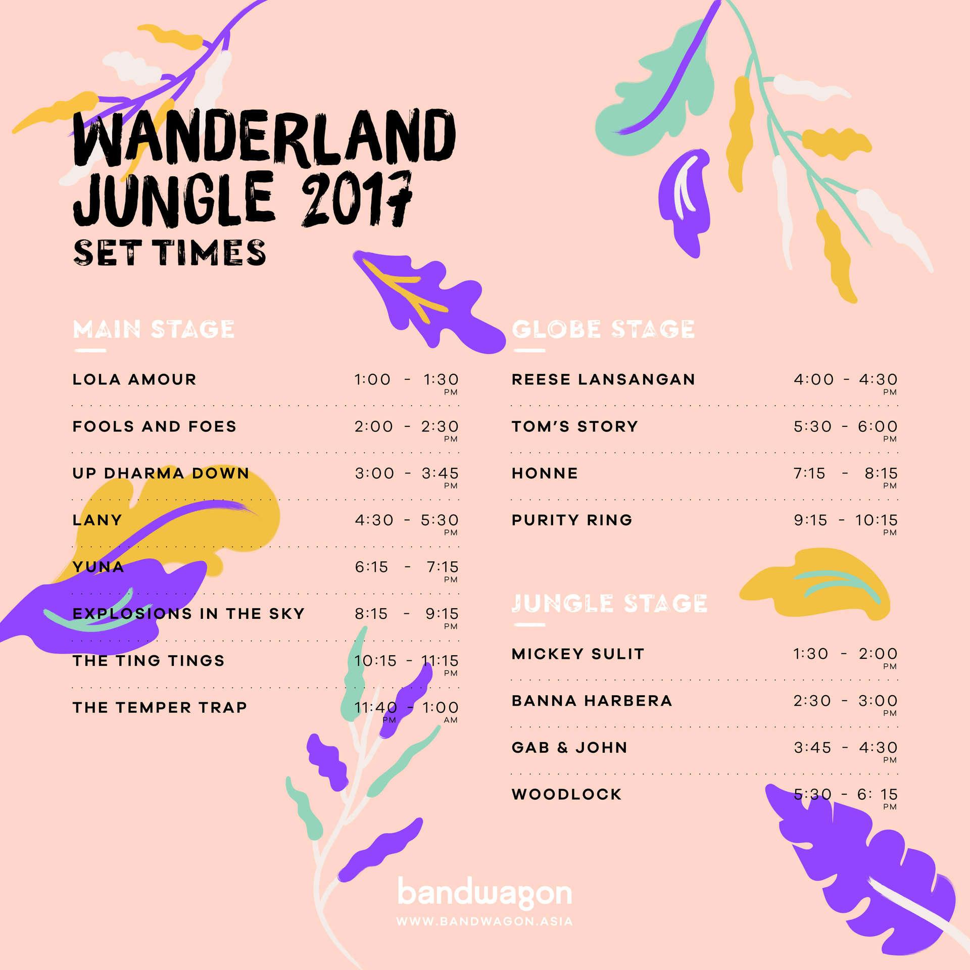 wanderland 2017 bandwagon asia yuna temper trap phoenix