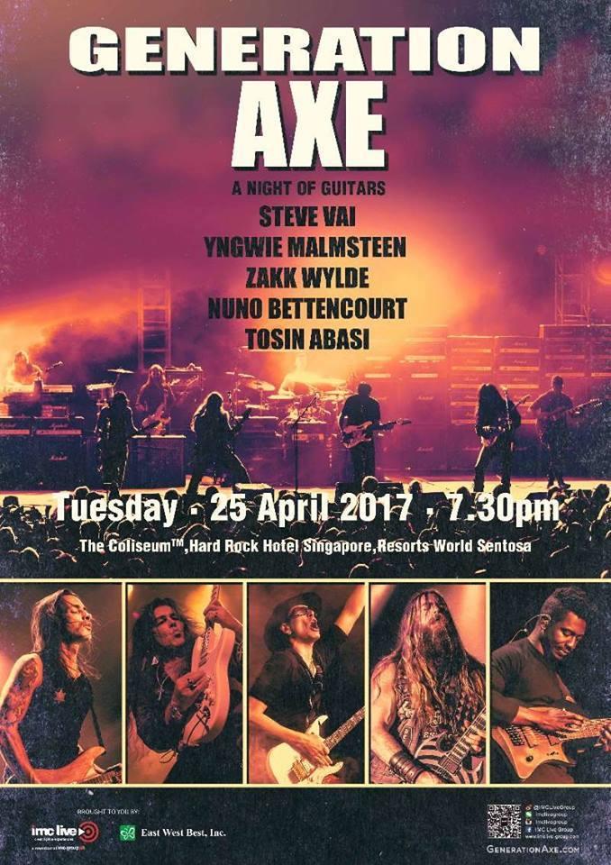 singapore guitar rock concert metal steve vai yngwie tosin wylde bettencourt