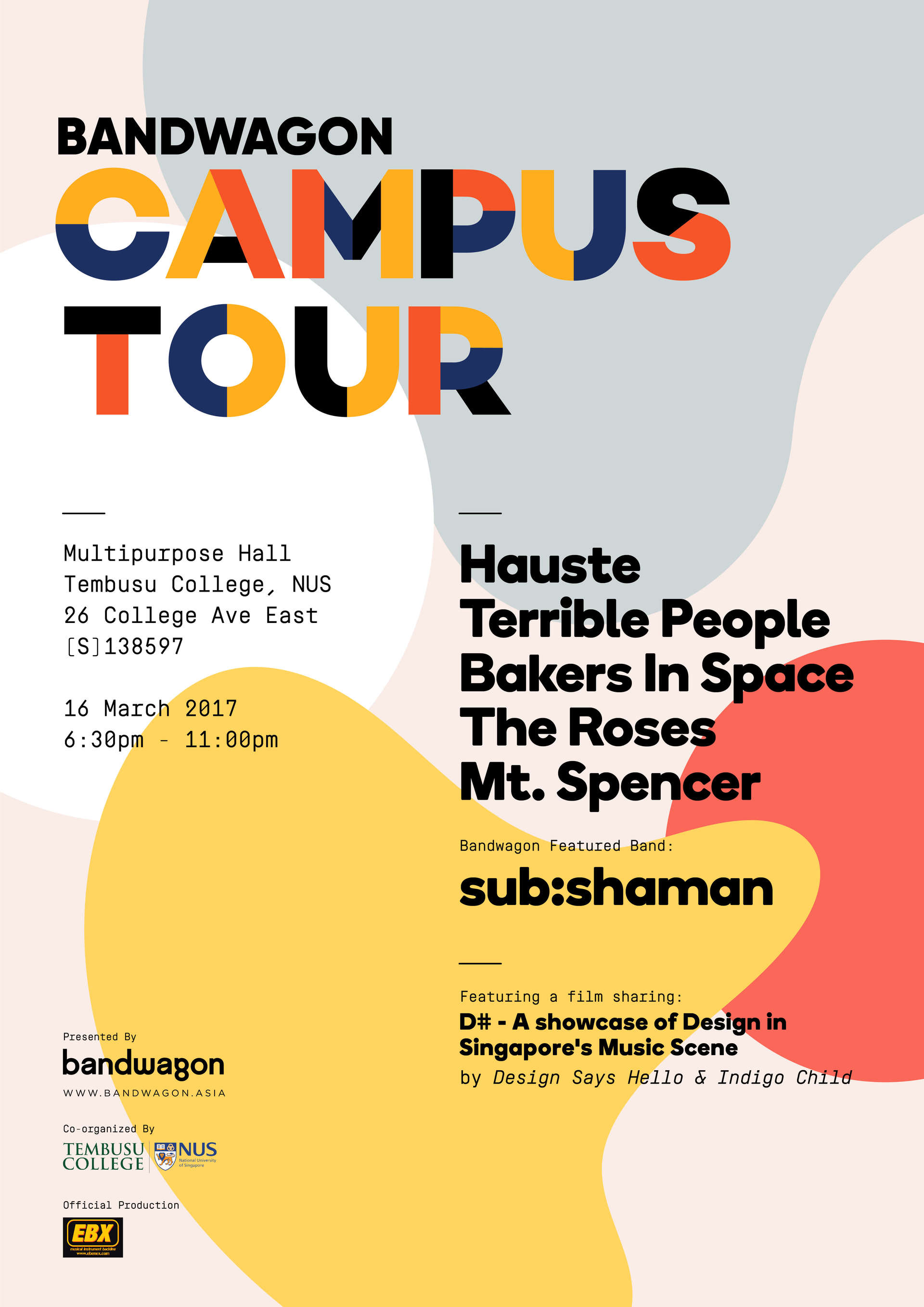 bandwagon campus tour — sub:shaman nus bakers in space hauste bennett bay