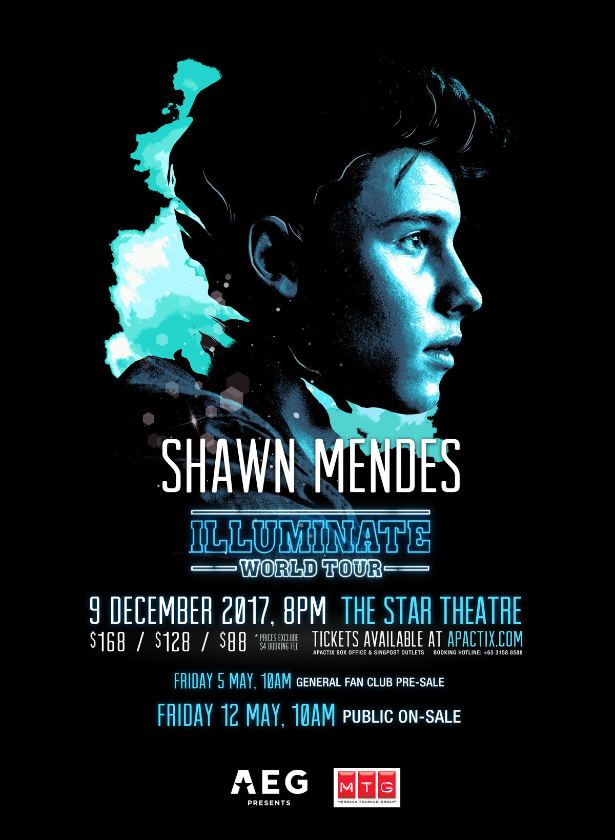shawn mendes, singapore, the star theatre