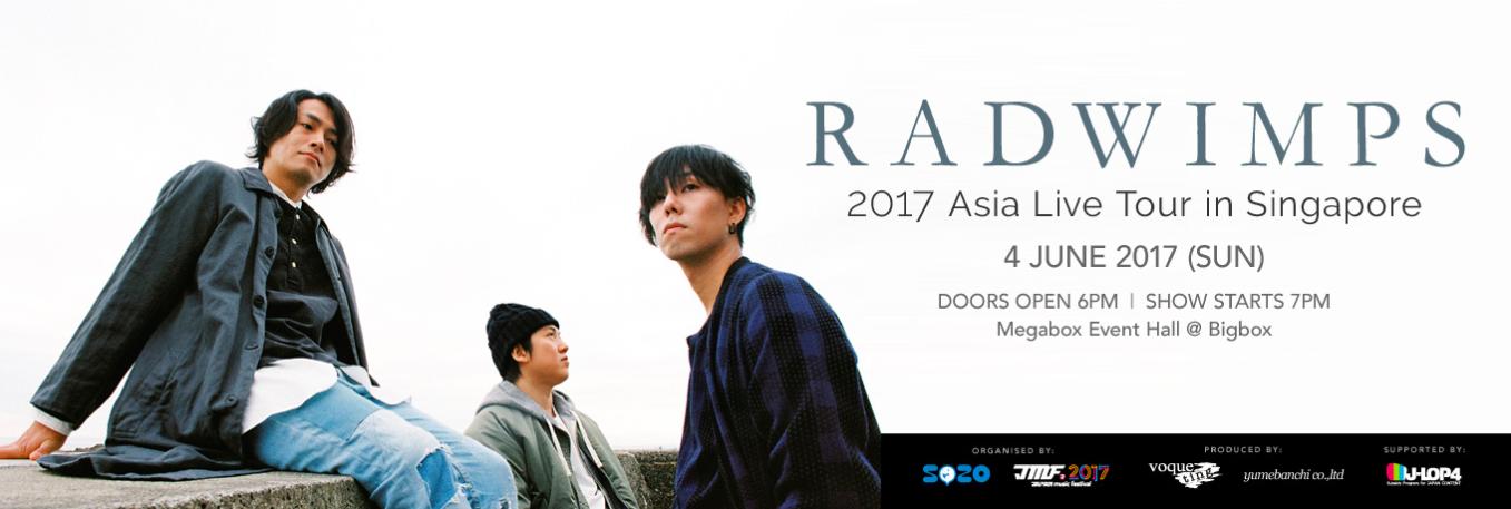 radwimps singapore, concert, your name, big box