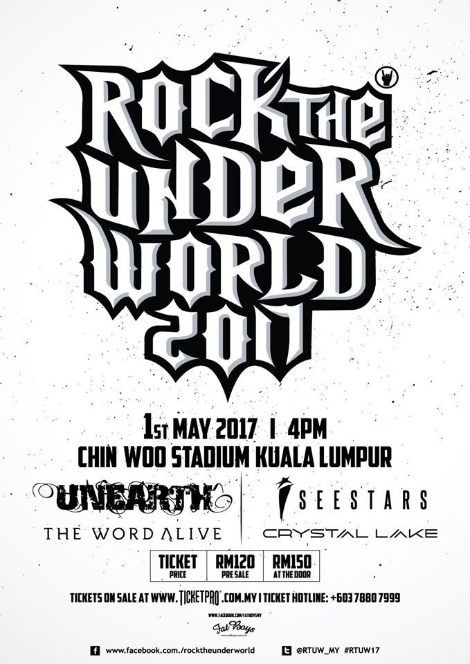 malaysia, the word alive, unearth, metalcore, i see stars, crystal lake, chin woo stadium, 2017