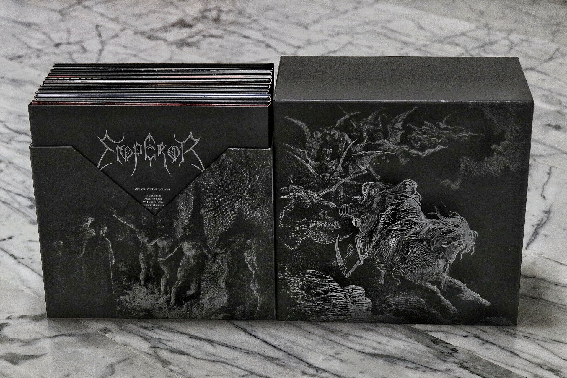 emperor, vinyl boxset, blood music, black metal, norway
