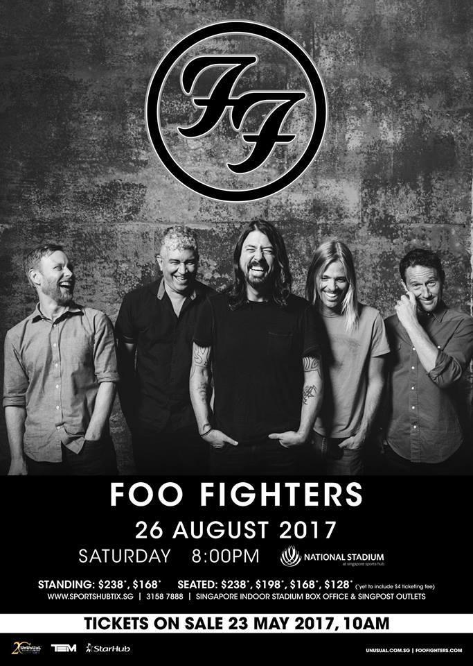 foo fighters singapore national stadium 2017