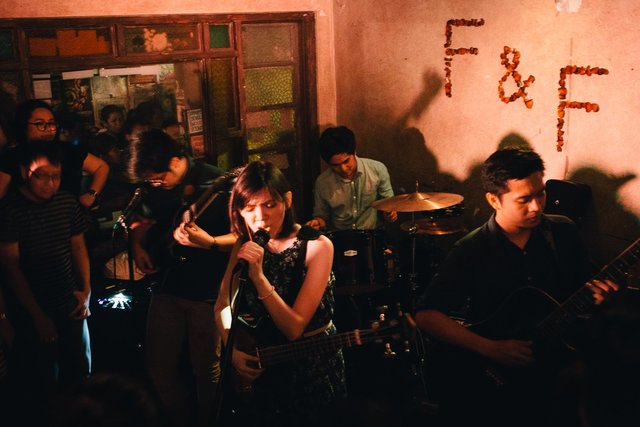 "Fools and Foes during the ""Underneath the Roots"" EP launch at saGuijo, Makati."