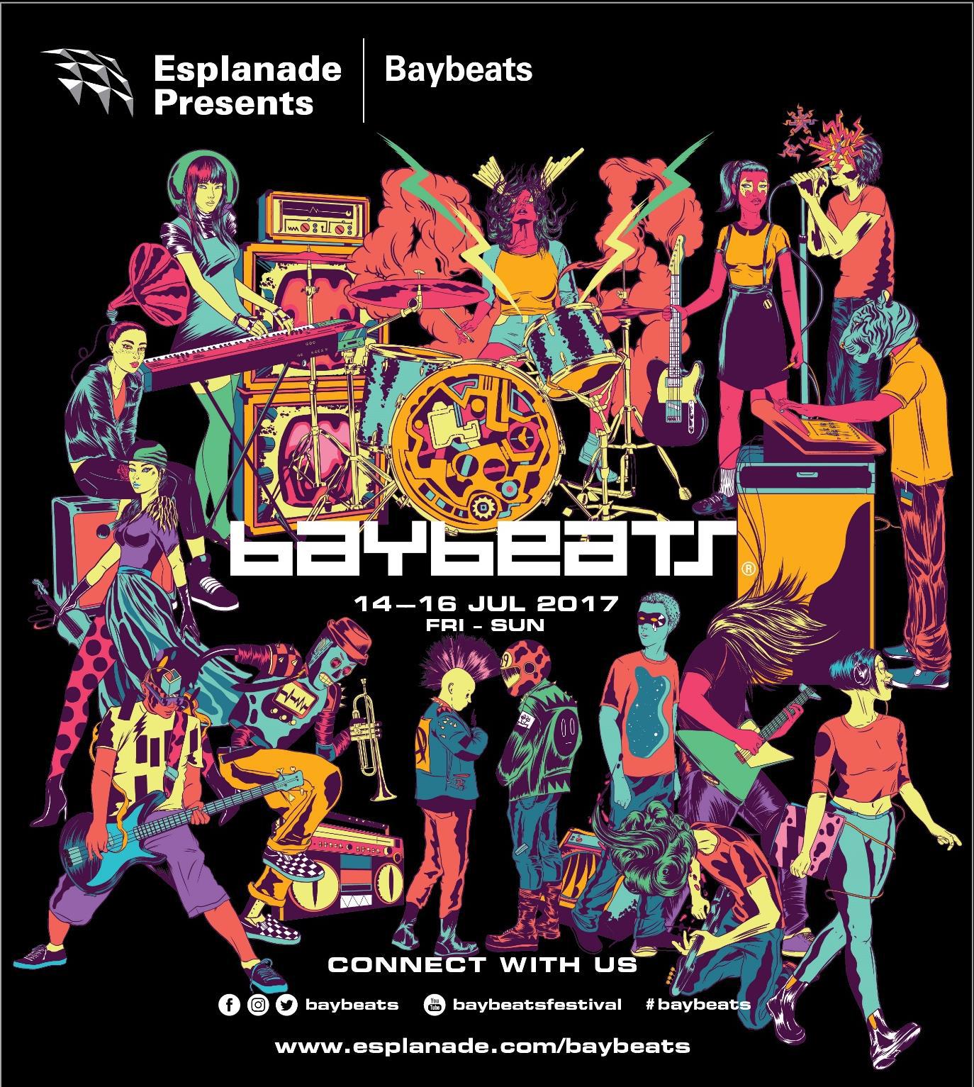 baybeats 2017 line-up, singapore