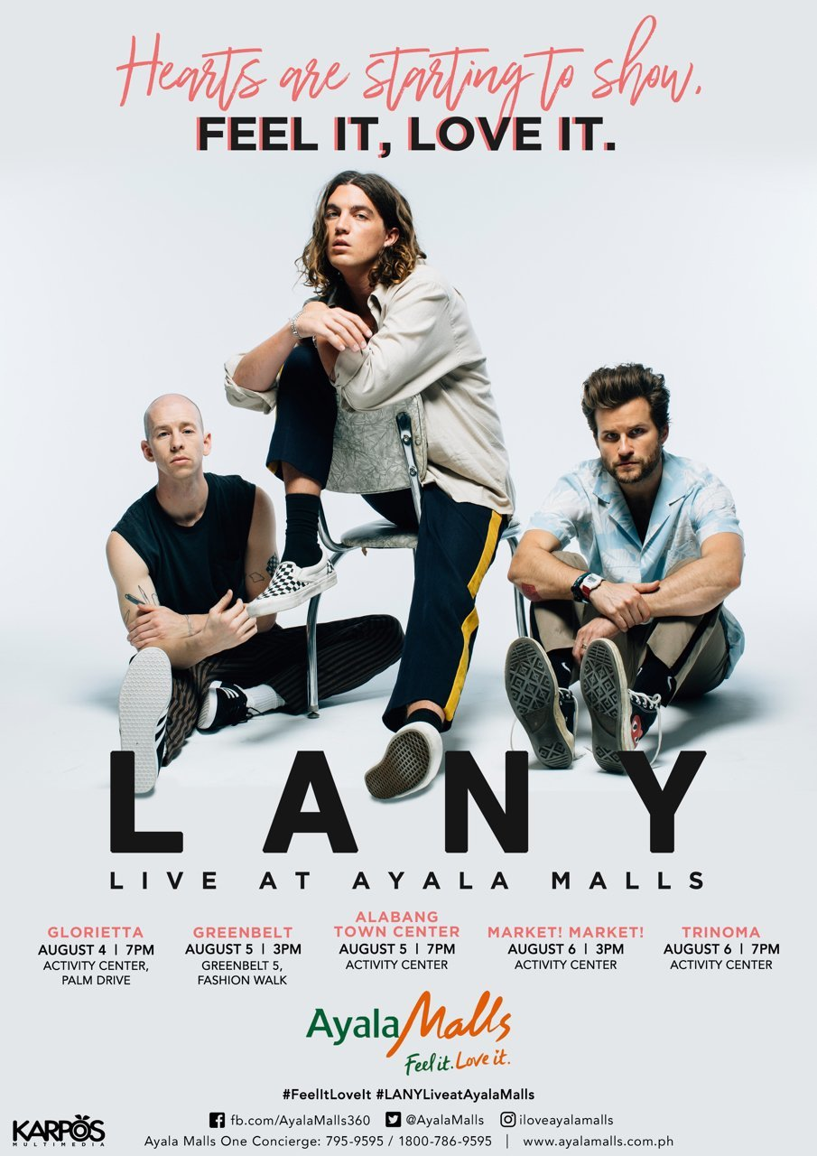 live in manila, live music, concert philippines, indie band, lany, ayala malls