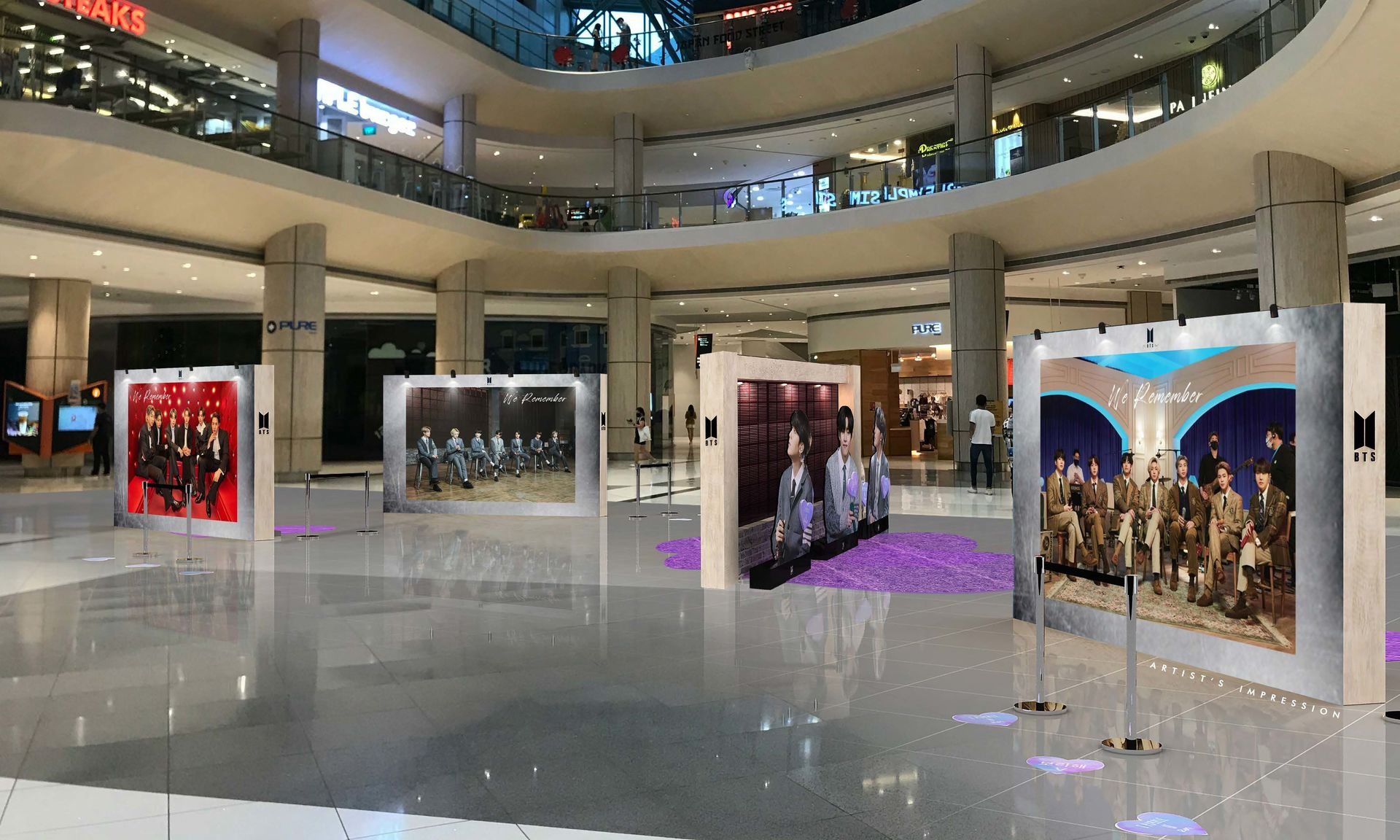 Artist Impression of North Atrium Display. Photo provided by Suntec City.